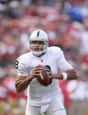 Jason Campbell looks poised, confident, and on point in his second year in Oakland