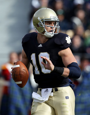 Dayne Crist is the Fighting Irish starting quarterback and will look to lead them back to the glory days.
