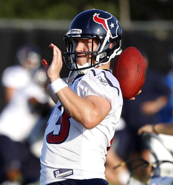 Houston Texans' 3rd string QB T.J. Yates