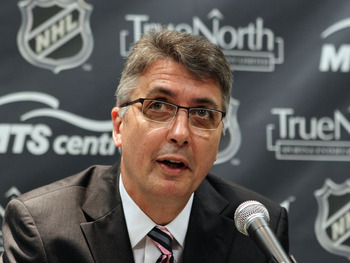 MINNEAPOLIS, MN - JUNE 24:  Claude Noel is introduced as the new head coach for the unnamed Winnipeg franchise of the National Hockey League at the Westin Hotel on June 23, 2011 in Minneapolis, Minnesota.  (Photo by Bruce Bennett/Getty Images)