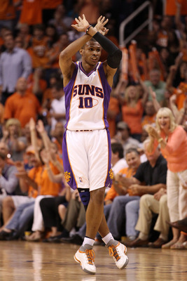 PHOENIX - MAY 25:  Leandro Barbosa #10 of the Phoenix Suns reacts after making a three point basket against the Los Angeles Lakers in the second quarter of Game Four of the Western Conference Finals during the 2010 NBA Playoffs at US Airways Center on May