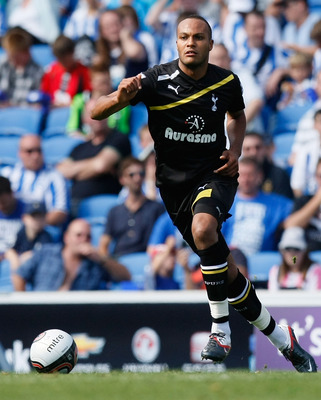 BRIGHTON, ENGLAND - JULY 30: Younes Kaboul of Tottenham Hotspur in action during the Pre Season Friendly match between Brighton & Hove Albion and Tottenham Hotspur at Amex Stadium on July 30, 2011 in Brighton, United Kingdom. (Photo by Tom Dulat/Getty Ima