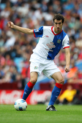 BIRMINGHAM, ENGLAND - AUGUST 20:  Radosav Petrovic of Blackburn in action during the Barclays Premier League match between Aston Villa and Blackburn Rovers at Villa Park on August 20, 2011 in Birmingham, England.  (Photo by Dean Mouhtaropoulos/Getty Image