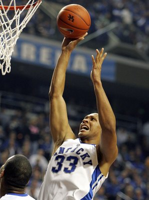 LEXINGTON, KY - JANUARY 20:  Randolph Morris #33  of the Kentucky Wildcats shoots the ball during the game against the Vanderbilt Commodores on January 20, 2007 at Rupp Arena in Lexington, Kentucky.  Vanderbilt defeated Kentucky, 72-67.  (Photo by Andy Ly