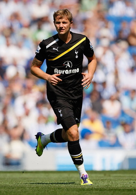 BRIGHTON, ENGLAND - JULY 30: Roman Pavlyuchenko of Tottenham Hotspur in action during the Pre Season Friendly match between Brighton & Hove Albion and Tottenham Hotspur at Amex Stadium on July 30, 2011 in Brighton, United Kingdom. (Photo by Tom Dulat/Gett