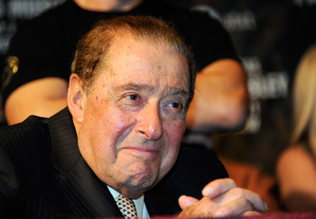 LAS VEGAS, NV - MAY 07:  Top Rank Founder and CEO Bob Arum attends a post-fight news conference after Manny Pacquiao defeated Shane Mosley by unanimous decision to retain his WBO welterweight title at the MGM Grand Garden Arena May 7, 2011 in Las Vegas, N