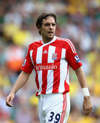 NORWICH, ENGLAND - AUGUST 21:  Jonathan Woodgate of Stoke looks on during the Barclay's premier league match between Norwich and Stoke City at Carrow Road on August 21, 2011 in Norwich, England.  (Photo by Julian Finney/Getty Images)