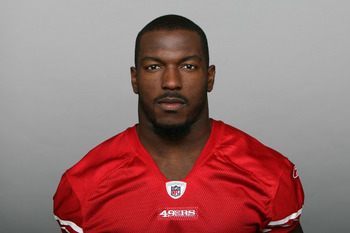SAN FRANCISCO, CA - CIRCA 2010: In this handout image provided by the NFL, Patrick Willis of the San Francisco 49ers poses for his NFL headshot circa 2010 in San Francisco, California. (Photo by NFL via Getty Images)