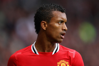 MANCHESTER, ENGLAND - AUGUST 28:  Nani of Manchester United looks on during the Barclays Premier League match between Manchester United and Arsenal at Old Trafford on August 28, 2011 in Manchester, England.  (Photo by Alex Livesey/Getty Images)
