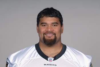 BALTIMORE - 2009:  Haloti Ngata of the Baltimore Ravens poses for his 2009 NFL headshot at photo day in Baltimore, Maryland. (Photo by NFL Photos)