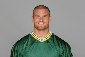 GREEN BAY, WI - CIRCA 2010: In this photo provided by the NFL, Brady Poppinga of the Green Bay Packers poses for his 2010 NFL headshot circa 2010 in Green Bay, Wisconsin.  (Photo by NFL via Getty Images)