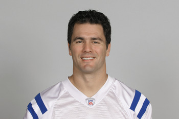 INDIANAPOLIS, IN - CIRCA 2010:  In this handout photo provided by the NFL,  Adam Vinatieri of the Indianapolis Colts poses for his 2010 NFL headshot circa 2010 in Indianapolis, Indiana.  (Photo by NFL via Getty Images)