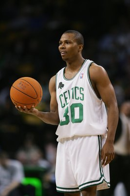 BOSTON - DECEMBER 08:  Sebastian Telfair #30 of the Boston Celtics holds the ball during the game against the Phoenix Suns on December 8, 2006 at the TD Banknorth Garden in Boston, Massachusetts.  The Suns won 116-111. NOTE TO USER: User expressly acknowl
