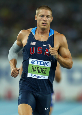 DAEGU, SOUTH KOREA - AUGUST 28:  Trey Hardee of United States competes in the1500 metres in the men's decathlon during day two of the 13th IAAF World Athletics Championships at the Daegu Stadium on August 28, 2011 in Daegu, South Korea.  (Photo by Mark Da
