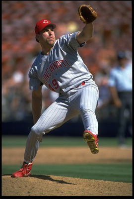 27 JUN 1993:  CINCINNATI REDS PITCHER ROB DIBBLE WINDS UP TO PITCH DURING THE REDS VERSUS SAN DIEGO PADRES GAME AT JACK MURPHY STADIUM IN SAN DIEGO, CALIFORNIA.  MANDATORY CREDIT:  STEPHEN DUNN/ALLSPORT