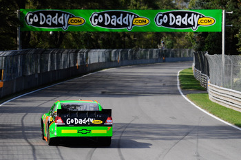 MONTREAL, QC - AUGUST 20:  Danica Patrick drives the #7 GoDaddy.com Chevrolet, during the NASCAR Nationwide Series NAPA Auto Parts 200 at Circuit Gilles Villeneuve on August 20, 2011 in Montreal, Canada.  (Photo by Jason Smith/Getty Images)