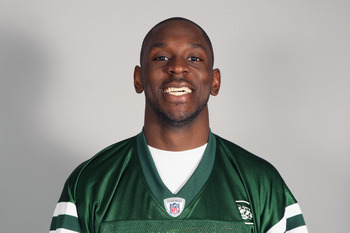 FLORHAM PARK, NJ - CIRCA 2010: In this handout image provided by the NFL, Aundrae Allison of the New York Jets poses for his 2010 NFL headshot circa 2010 in Florham Park, New Jersey. (Photo by NFL via Getty Images)