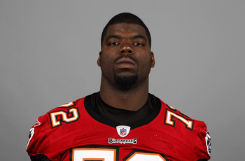 TAMPA BAY, FL - CIRCA 2010:   In this handout image provided by the NFL, Brandon Gilbeaux of the Tampa Bay Buccaneers NFL football team is seen posing for a portrait taken in 2010 in Tampa Bay, Florida. This image reflects the Tampa Bay Buccaneers active