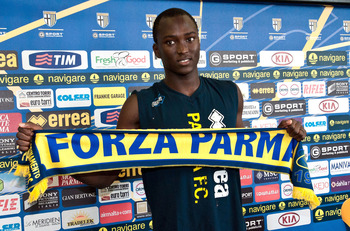 COLLECCHIO, ITALY - AUGUST 19:  Danilo Pereira of Parma FC poses during a press conference as the club present new signings on August 19, 2010 in Collecchio, Italy.  (Photo by Roberto Serra/Getty Images)