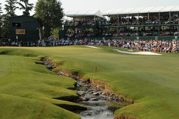 CHARLOTTE, NC - MAY 08:  A general view of the 18th green during the final round of the Wells Fargo Championship at the Quail Hollow Club on May 8, 2011 in Charlotte, North Carolina.  (Photo by Scott Halleran/Getty Images)