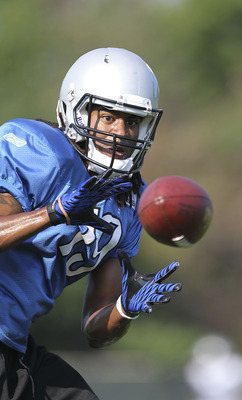 Former Murray State star Marcus Harris at Detroit Lions training camp