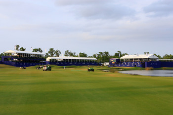 NEW ORLEANS, LA - APRIL 29: A view of the 18th hole at the TPC Louisiana on April 29, 2011 in New Orleans, Louisiana. (Photo by Hunter Martin/Getty Images)