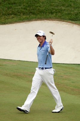 BETHESDA, MD - JUNE 19:  Rory McIlroy of Northern Ireland waves to fans on the 18th hole during the final round of the 111th U.S. Open at Congressional Country Club on June 19, 2011 in Bethesda, Maryland.  (Photo by Ross Kinnaird/Getty Images)