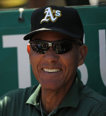 OAKLAND, CA - JUNE 23:  Former member of the Oakland Athletics Bert Campaneris, looks on against the Cincinnati Reds during an MLB game at the Oakland-Alameda County Coliseum on June 23, 2010 in Oakland, California.  (Photo by Jed Jacobsohn/Getty Images)