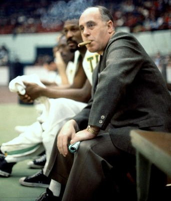 Red Auerbach usually smoked a victory cigar when the Celtics won