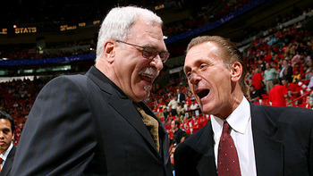 Phil Jackson and Pat Riley: 2 of the 3 greatest coaches of all time