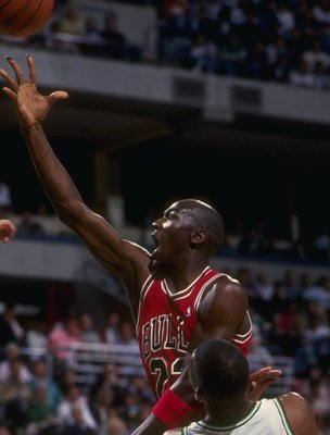 1988-89: Guard Michael Jordan of the Chicago Bulls (center).