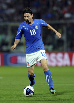 MODENA, ITALY - JUNE 03:  Riccardo Montolivo of Italy in action  during the UEFA EURO 2012 Group C qualifying match between Italy and Estonia on June 3, 2011 in Modena, Italy.  (Photo by Dino Panato/Getty Images)