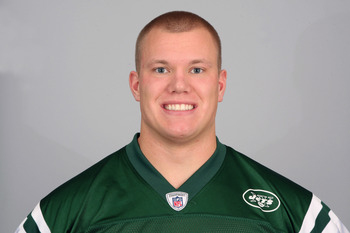 FLORHAM PARK, NJ - CIRCA 2010: In this handout image provided by the NFL, Matthew Mulligan of the New York Jets poses for his 2010 NFL headshot circa 2010 in Florham Park, New Jersey. (Photo by NFL via Getty Images)