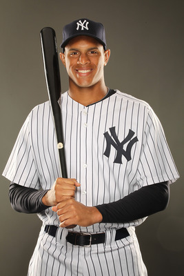 TAMPA, FL - FEBRUARY 23:  Justin Maxwell #63 of the New York Yankees poses for a portrait on Photo Day at George M. Steinbrenner Field on February 23, 2011 in Tampa, Florida.  (Photo by Al Bello/Getty Images)