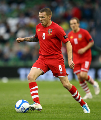 DUBLIN, IRELAND - MAY 27:  Craig Bellamy of Wales in action during the Carling Nations Cup match between Northern Ireland and Wales at the Aviva Stadium on May 27, 2011 in Dublin, Ireland.  (Photo by Julian Finney/Getty Images)