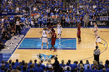 DALLAS, TX - JUNE 07:  Chris Bosh #1 of the Miami Heat attempts a free throw against the Dallas Mavericks in Game Four of the 2011 NBA Finals at American Airlines Center on June 7, 2011 in Dallas, Texas. The Mavericks won 86-83. NOTE TO USER: User express