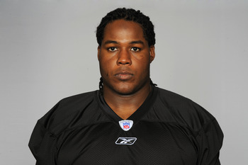 PITTSBURGH, PA - CIRCA 2010: In this handout image provided by the NFL, Chris Scott of the Pittsburgh Steelers poses for his 2010 NFL headshot circa 2010 in Pittsburgh, Pennsylvania. (Photo by NFL via Getty Images)
