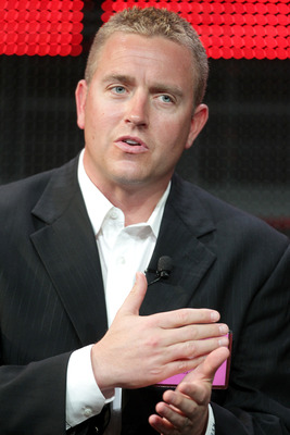 PASADENA, CA - JANUARY 05:  Broadcaster Kirk Herbstreit speaks onstage during the 'BCS Title Game' panel at the ESPN portion of the 2011 Winter TCA press tour held at the Langham Hotel on January 5, 2011 in Pasadena, California.  (Photo by Frederick M. Br
