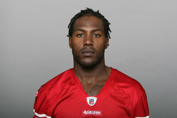SAN FRANCISCO, CA - CIRCA 2010: In this handout image provided by the NFL, Brandon Jones of the San Francisco 49ers poses for his NFL headshot circa 2010 in San Francisco, California. (Photo by NFL via Getty Images)