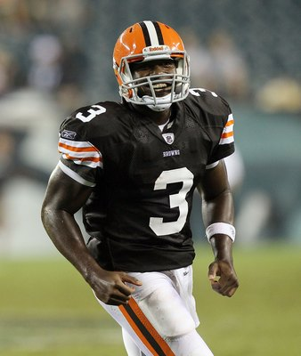 PHILADELPHIA, PA - AUGUST 25:  Jarrett Brown #3 of the Cleveland Browns in action against the during their pre season game on August 25, 2011 at Lincoln Financial Field in Philadelphia, Pennsylvania.  (Photo by Jim McIsaac/Getty Images)