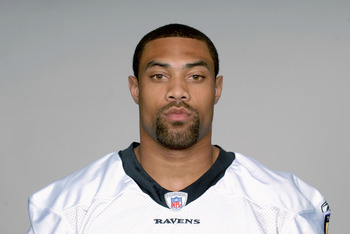 BALTIMORE, MD - CIRCA 2010:  In this handout image provided by the NFL , Demetrius Williams of the Baltimore Ravens poses for his 2010 NFL headshot circa 2010 in Baltimore, Maryland.  ( Photo by NFL via Getty Images)