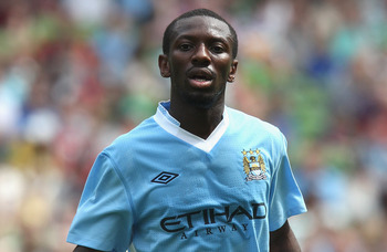 DUBLIN, IRELAND - JULY 30:  Shaun Wright-Phillips  of Manchester City looks on during the Dublin Super Cup match between Manchester City and Airtricity XI at Aviva Stadium on July 30, 2011 in Dublin, Ireland.  (Photo by David Rogers/Getty Images)