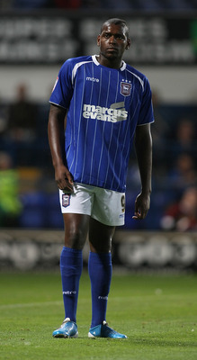 IPSWICH, ENGLAND - AUGUST 09:  Jay Emmanuel-Thomas of Ipswich Town in action during the Carling Cup First Round Match between Ipswich Town and Northampton Town at Portman Road on August 9, 2011 in Ipswich, England.  (Photo by Pete Norton/Getty Images)