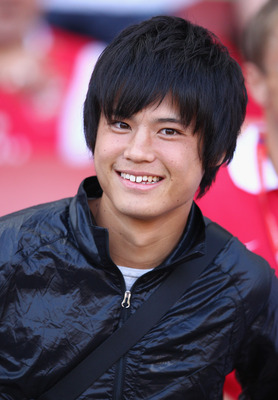 LONDON, ENGLAND - JULY 30:  Ryo Miyaichi of Arsenal looks on ahead of the Emirates Cup match between Arsenal and Boca Juniors at the Emirates Stadium on July 30, 2011 in London, England.  (Photo by Richard Heathcote/Getty Images)