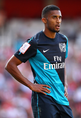 LONDON, ENGLAND - JULY 30:  Armand Traore of Arsenal looks on during the Emirates Cup match between Arsenal and Boca Juniors at the Emirates Stadium on July 30, 2011 in London, England.  (Photo by Richard Heathcote/Getty Images)