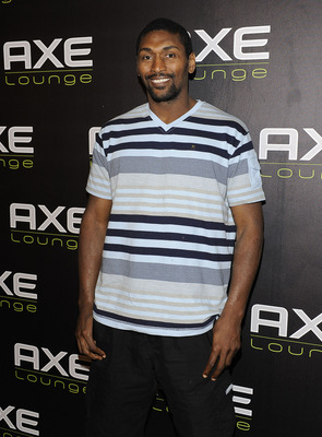 SOUTHAMPTON, NY - JULY 16:  Ron Artest visits the AXE Lounge in Southampton at AXE Lounge on July 16, 2011 in Southampton, New York.  (Photo by Eugene Gologursky/Getty Images for Axe)