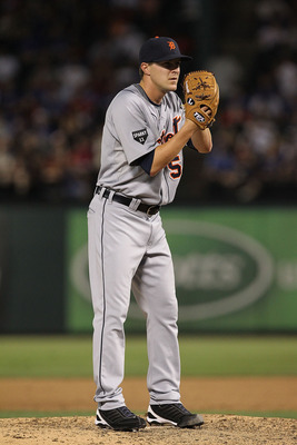 ARLINGTON, TX - JUNE 08:  Pitcher Adam Wilk #58 of the Detroit Tigers at Rangers Ballpark in Arlington on June 8, 2011 in Arlington, Texas.  (Photo by Ronald Martinez/Getty Images)