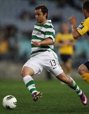 SYDNEY, AUSTRALIA - JULY 02:  Shaun Maloney of Celtic runs the ball forward during the international friendly club match between the Central Coast Mariners and Glasgow Celtic at ANZ Stadium on July 2, 2011 in Sydney, Australia.  (Photo by Mark Kolbe/Getty