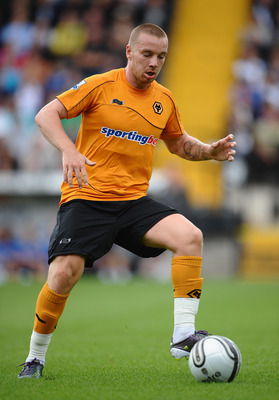 NOTTINGHAM, ENGLAND - JULY 23:  Jamie O'Hara of Wolves in action during the Pre Season Friendly between Notts County and Wolverhampton Wanderers at Meadow Lane on July 23, 2011 in Nottingham, England.  (Photo by Laurence Griffiths/Getty Images)