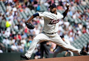 MINNEAPOLIS, MN - AUGUST 25: Francisco Liriano #47 of the Minnesota Twins delivers a pitch against the Baltimore Orioles in the first inning on August 25, 2011 at Target Field in Minneapolis, Minnesota. (Photo by Hannah Foslien/Getty Images)